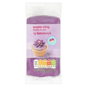 Sainsbury's Ready to Roll Purple Icing 250g