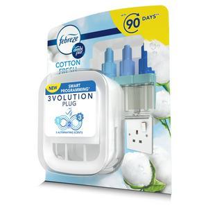 Febreze Ambi Pur 3Volution Plug In Air Freshener Starter Kit Cotton Fresh