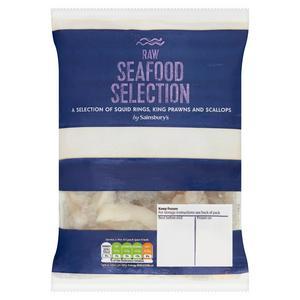 Sainsbury's Raw Seafood Selection 300g