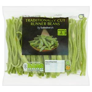 Sainsbury's Traditionally Sliced Runner Beans 160g
