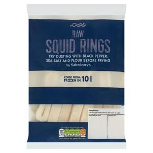 Sainsbury's Raw Squid Rings 300g