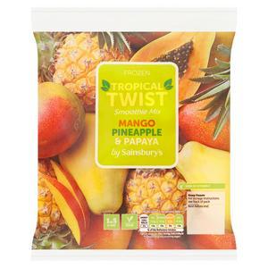Sainsbury's Mango, Papaya & Pineapple Smoothie Mix 480g