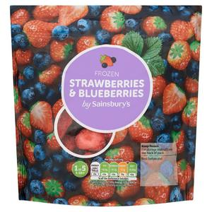 Sainsbury's Frozen Strawberries & Blueberries 400g