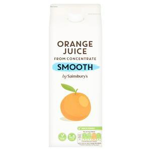 Sainsbury's Smooth Pure Orange Juice 2L