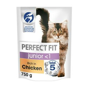 Perfect Fit Dry 2-12 Months Kitten Advanced Nutrition Dry Cat Food Chicken 750g