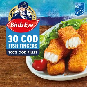 Birds Eye Cod Fish Fingers Big Value Pack x30 840g