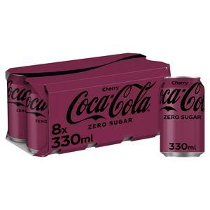 Coca Cola Zero Sugar Cherry 8x330ml