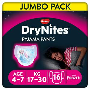 DryNites Girls Pyjama Pants Age 4-7 Years 16 Pants