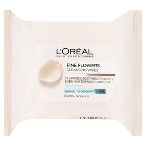 L'Oreal Paris Fine Flowers Cleansing Wipes Combination Skin�x25