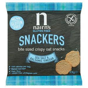Nairn's Gluten Free Snackers Bite Sized Crispy Oat Snacks, Sea Salt & Balsamic Vinegar 23g