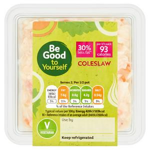 Sainsbury's Coleslaw, Be Good To Yourself 180g