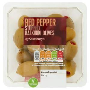 Sainsbury's Pimento Stuffed Halkidiki Olives 160g