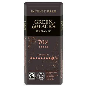 Green & Black's Organic 70% Dark Chocolate Bar 35g