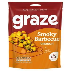 SAINSBURYS > General > Graze Smokehouse BBQ Crunch Flavoured Peas 104g