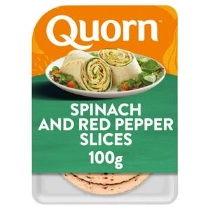Quorn Spinach & Red Pepper Slices 100g