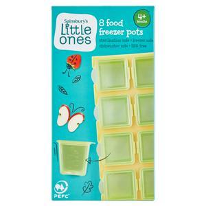 Sainsbury's Little Ones 8 Food Freezer Pots 4+ Months