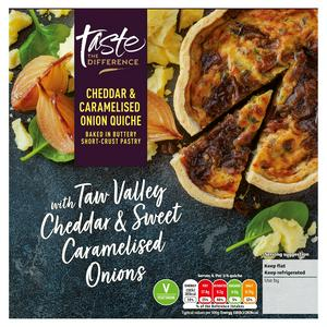 Sainsbury's Cheddar & Onion Quiche, Taste the Difference 400g
