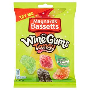 Maynards Bassetts Wine Gums Tangy Sweets Bag 165g