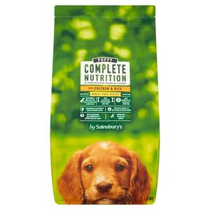 Sainsbury's Complete Nutrition Puppy Food with Chicken & Rice 2.5kg