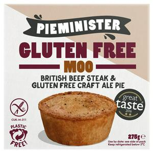 Pieminister Gluten Free Moo British Beef Steak & Gluten Free Ale Pie 275g