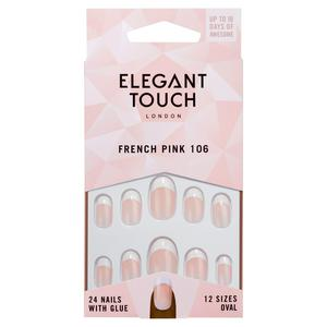 Elegant Touch Natural French 106 24 Pack Nails 10 Sizes