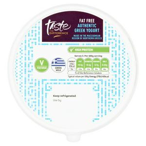 Sainsbury's Authentic Fat Free Greek Yogurt, Taste the Difference 500g