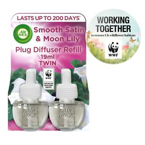 Air Wick Scented Oil Smooth Satin & Moon Lily Air Freshener Refill 2x19ml