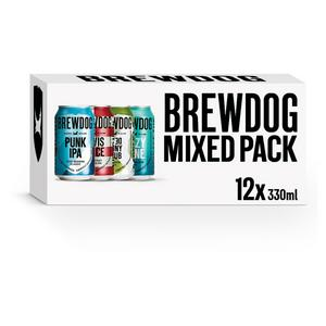 Brewdog Mixed Beer Can Pack 12x330ml