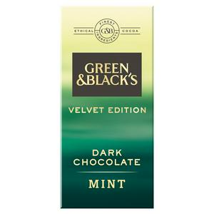 Green & Black?s Velvet Edition Mint Dark Chocolate Bar 90g