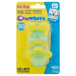 Nuby Chewbies Teethers 3 Months+ Twinpack