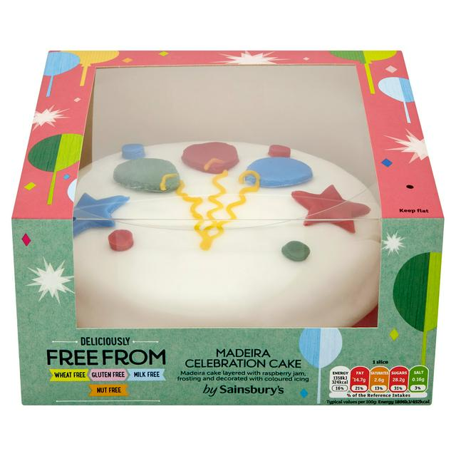 Outstanding Sainsburys Deliciously Free From Madeira Celebration Cake 716G Funny Birthday Cards Online Fluifree Goldxyz