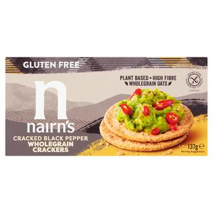 Nairn's Gluten Free Cracked Black Pepper Wholegrain Crackers 137g