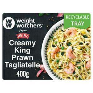 Weight Watchers from Heinz Creamy King Prawn Tagliatelle Ready Meal 400g