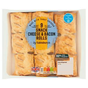 Sainsbury's Cheese & Bacon Snack Rolls x9 270g