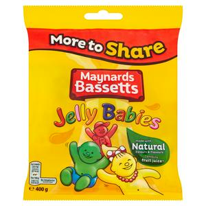 Maynards Bassetts Jelly Babies Sweets Bag 400g