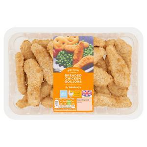 Sainsbury's Breaded Fresh British Chicken Goujons 540g