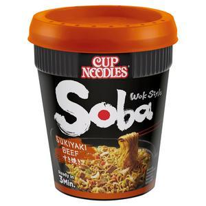 Nissin Soba Sukiyaki Beef Noodles with Yakisoba Sauce 89g