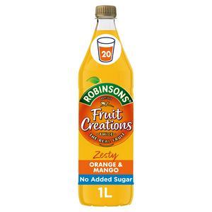 Robinsons Fruit Creations Zesty Orange & Mango Squash 1L