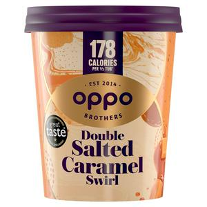 Oppo Low Calorie Salted Caramel Ice Cream 475ml