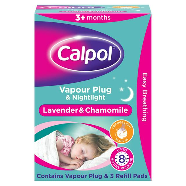 Calpol Vapour Plug & Nightlight Lavender & Chamomile 3+ Months