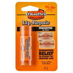 O'Keeffe's Lip Repair Unscented Lip Balm 4.2g