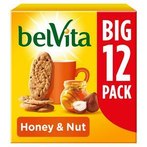 Belvita Honey Nut Breakfast Biscuit Multipack 540g
