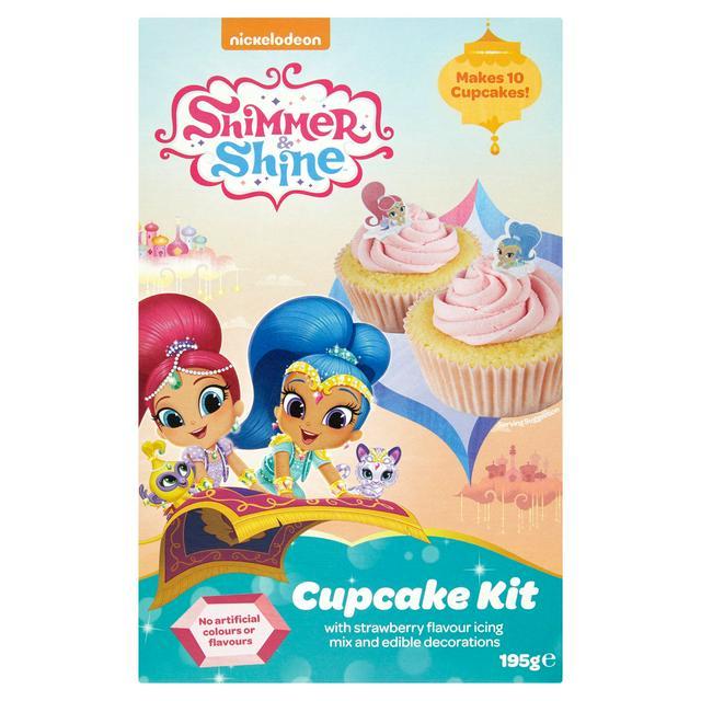 Nickelodeon Shimmer Shine Cupcake Kit 195g Sainsbury S