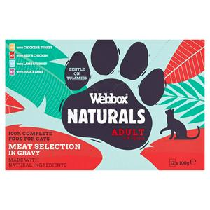 Webbox Premium Natural Meat Selection in Gravy 12x100g