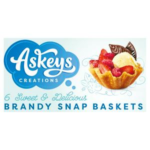 Askey's 6 Brandy Snap Baskets