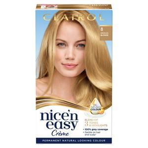 Clairol Nice'n Easy Cr�me Natural Looking Oil-Infused Permanent Hair Dye Medium Blonde 8