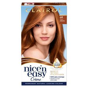 Clairol Nice'n Easy Cr�me Natural Looking Oil-Infused Permanent Hair Dye Light Auburn 6R
