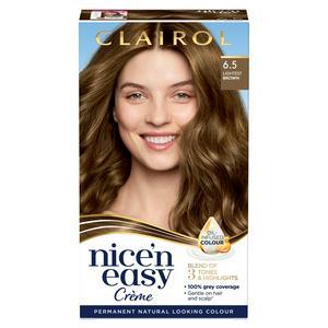 Clairol Nice'n Easy Cr�me Natural Looking Oil-Infused Permanent Hair Dye Lightest Brown 6.5