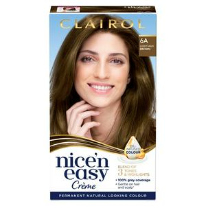 Clairol Nice'n Easy Cr�me Natural Looking Oil-Infused Permanent Hair Dye Light Ash Brown 6A