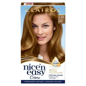 Clairol Nice'n Easy Cr�me Natural Looking Oil-Infused Hair Dye Lightest Golden Brown 6.5G